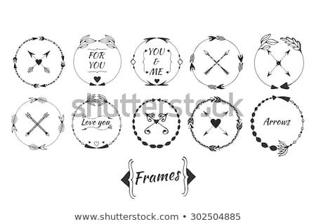 íj nyíl kör logo vektor terv Stock fotó © blaskorizov