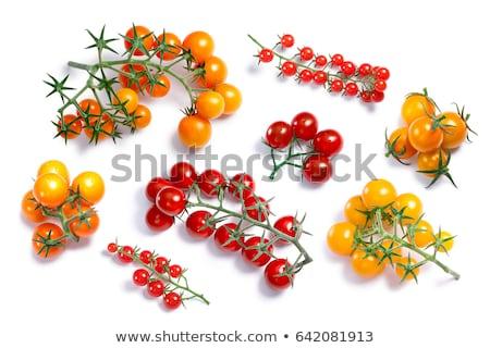 Stock photo: Cherry ciliegini pachino tomatoes cluster, paths