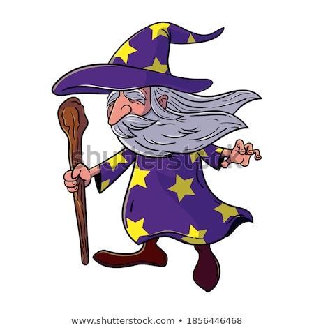 Warlock Stars on Beard Mascot Stock photo © patrimonio