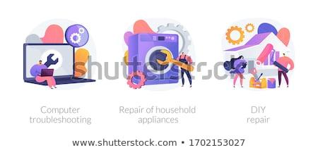 teknik · destek · vektör · mecaz · yazılım · yapılandırma - stok fotoğraf © rastudio