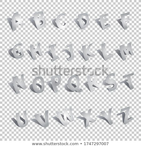 volumetric vintage alphabet font vector illustration set 10 stock photo © tashatuvango