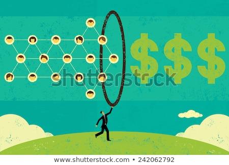 Social Network Dollar Icons Vector Illustration Stock photo © robuart