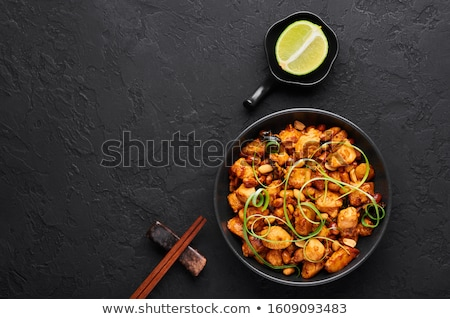 Stock photo: Bowl of Kung Pao chicken