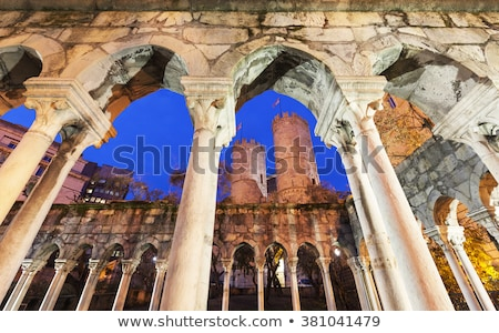 St Andrew cloister ruins in Genoa, Italy Stock photo © boggy