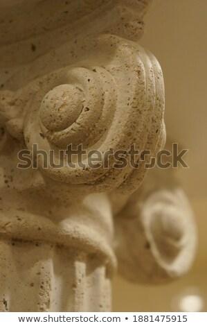 Primo piano antichi decorativo pilastro architettura Europa Foto d'archivio © boggy