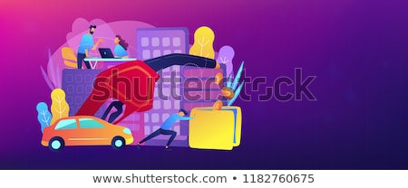 fuel saving and gas mileage banner template stock photo © rastudio