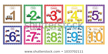 Math worksheet four counting by five with cars Stock photo © colematt