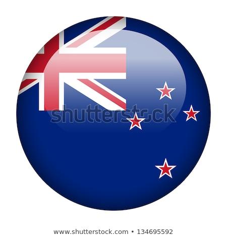Etiqueta diseno Nueva Zelandia bandera ilustración corazón Foto stock © colematt