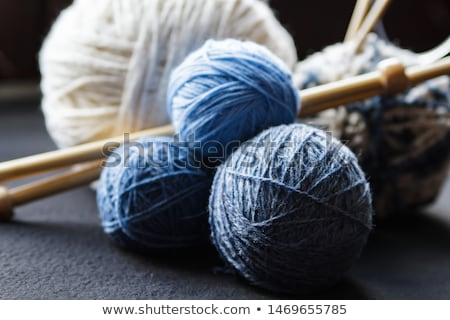 Oranje groene grijs wol gebreid textuur Stockfoto © marylooo