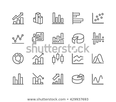graph chart vector icon set stock photo © fred