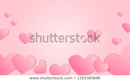 heart shape with roses valentines day wedding birthday design isolated on white background stock photo © essl