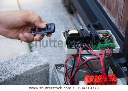 技術者 · セキュリティ · ドア · センサー · クローズアップ - ストックフォト © andreypopov
