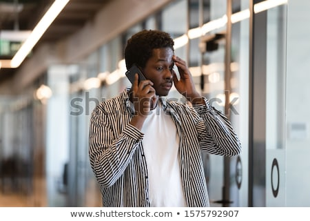 Negotiations on Mobile Phone, Worker Dismissal Stock photo © robuart