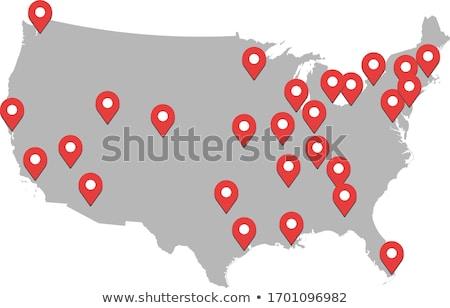 Amerika · Birleşik · Devletleri · Amerika · ABD · harita · dünya · haritası · bayrak - stok fotoğraf © kyryloff