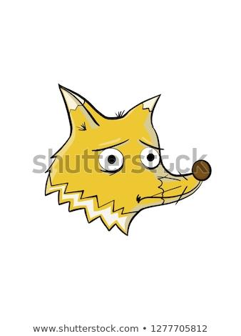 Bad hand-painted cute dog illustration  Stock photo © Blue_daemon
