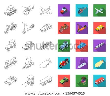 Mann · Auto · Symbol · Vektor · Gliederung · Illustration - stock foto © netkov1