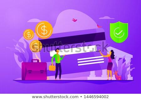 Credit card vector creative concept illustration. Stock photo © RAStudio