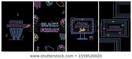 black friday internet banners with basket and gift stock photo © robuart