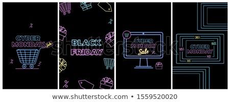 Black friday internet bannerek kosár ajándék vásár Stock fotó © robuart