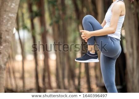 小さな スポーツ 女性 立って 屋外 ストックフォト © deandrobot