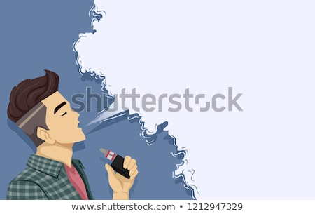 Teen Guy Vape Smoke Background Illustration Stock photo © lenm