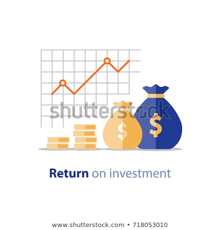 Icon of investment portfolio growth or revenue increase Stock photo © ussr