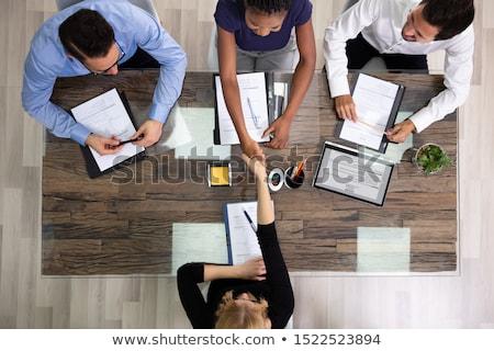 Biznesmen kobiet kandydat widoku biuro działalności Zdjęcia stock © AndreyPopov
