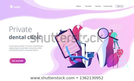 Stomatologia lądowanie strona dentysta drabiny Zdjęcia stock © RAStudio
