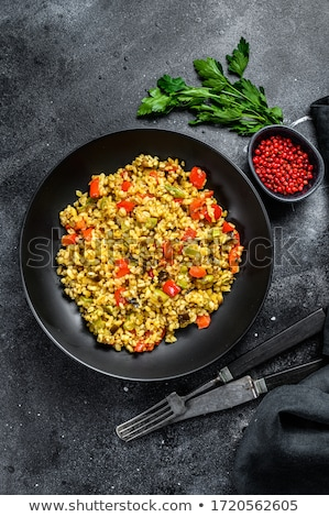 bulgur with vegetables Stock photo © tycoon