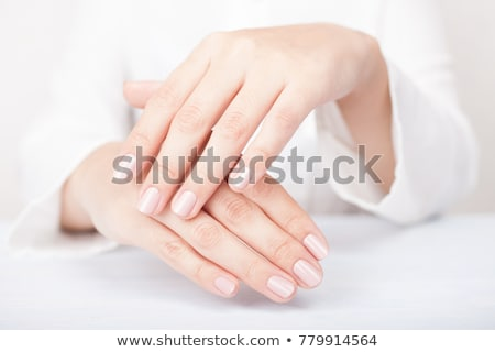 Beautiful Woman Hands. Female Hands Applying Cream, Lotion. Spa and Manicure concept. Female hands w Stock photo © serdechny