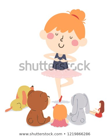 Kid Girl Dance Toys Audience Illustration Stock photo © lenm