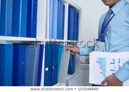 多くの · 文書 · シェルフ · オフィス · 背景 · 情報 - ストックフォト © andreypopov
