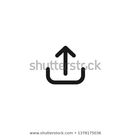 アップロード アイコン 青 フレーム デザイン 技術 ストックフォト © angelp