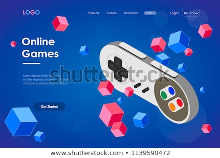 Computer games development concept landing page Stock photo © RAStudio