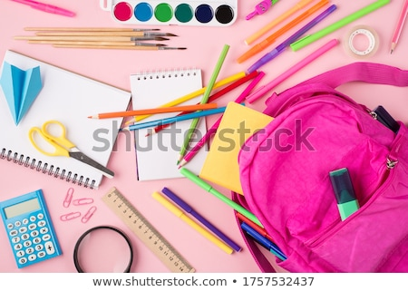 Backpack and Stationery, Pupils and Notebooks Stock photo © robuart