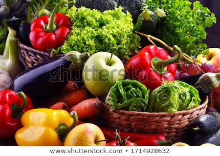 新鮮な · ハーブ · オリーブオイル · 食品 · 木材 - ストックフォト © karandaev