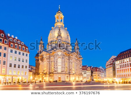 Dresden Frauenkirche at night, Germany Stock photo © borisb17