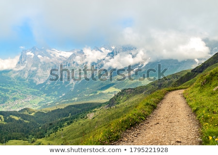dağ · yaz · görmek · İtalyan · yol · bulutlar - stok fotoğraf © lichtmeister