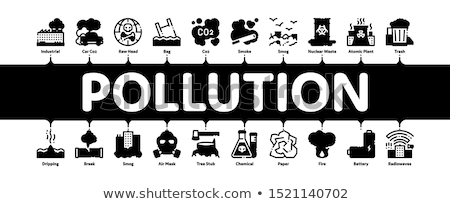 Contaminación naturaleza mínimo infografía banner vector Foto stock © pikepicture