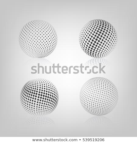 esfera · meio-tom · cinza · espelho · reflexão · isolado - foto stock © kup1984