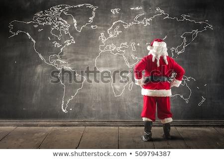 Мир карта Дед Мороз Сток-фото © liolle