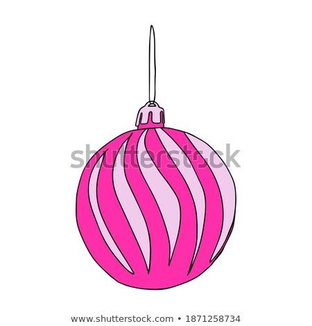 クリスマス ピンク ボール 銀 ストックフォト © furmanphoto