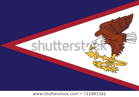 Samoa bandeira branco fundo assinar imprimir Foto stock © butenkow