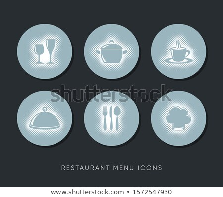 вектора ресторан меню веб-иконы полутоновой дизайна Сток-фото © blumer1979