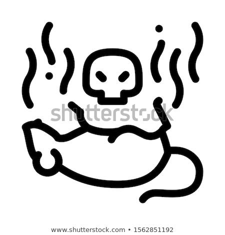 Patkány halott ikon vektor skicc illusztráció Stock fotó © pikepicture