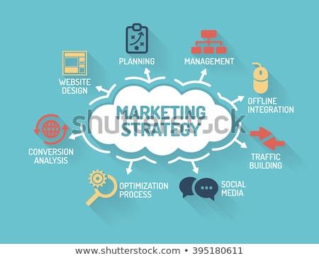 marketing strategy planning flat vector illustration stock photo © rastudio