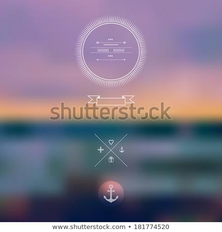 Mar pôr do sol turva realista luz pintar Foto stock © MarySan