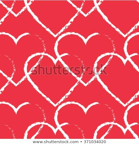 バレンタインデー ベクトル 単純な 心 繊維 ストックフォト © olehsvetiukha