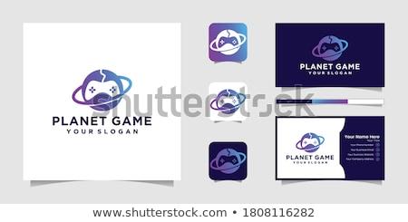 Мир земле игры утешить джойстик логотип Сток-фото © vector1st