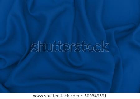 Absztrakt kék szövet bársony textil anyag Stock fotó © Anneleven